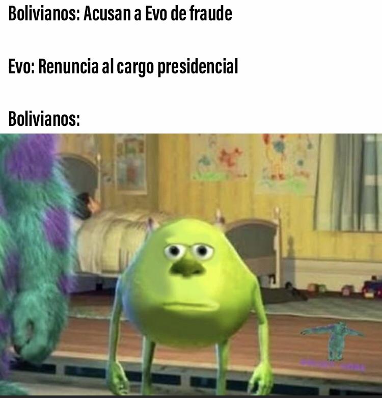el Evo renunció - meme