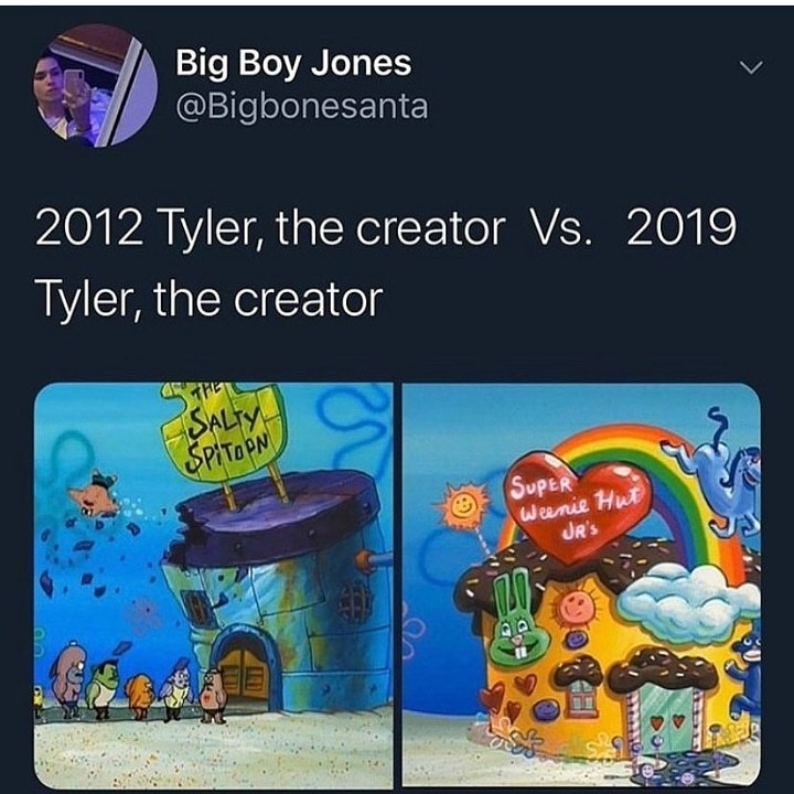 Tyler the Creator has changed lol - meme