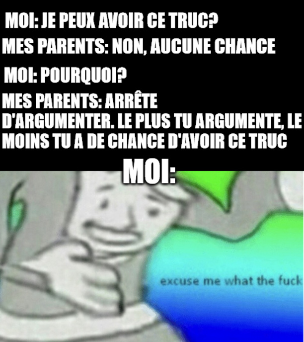 Excuse me what de f... on va rester polie :) - meme
