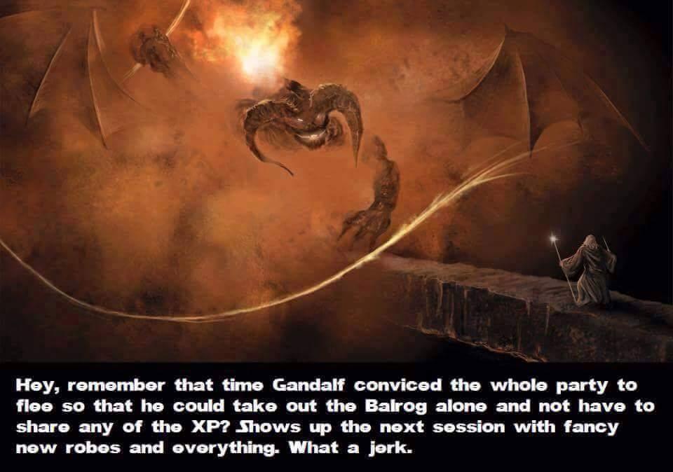 Gandalf the jerk - meme