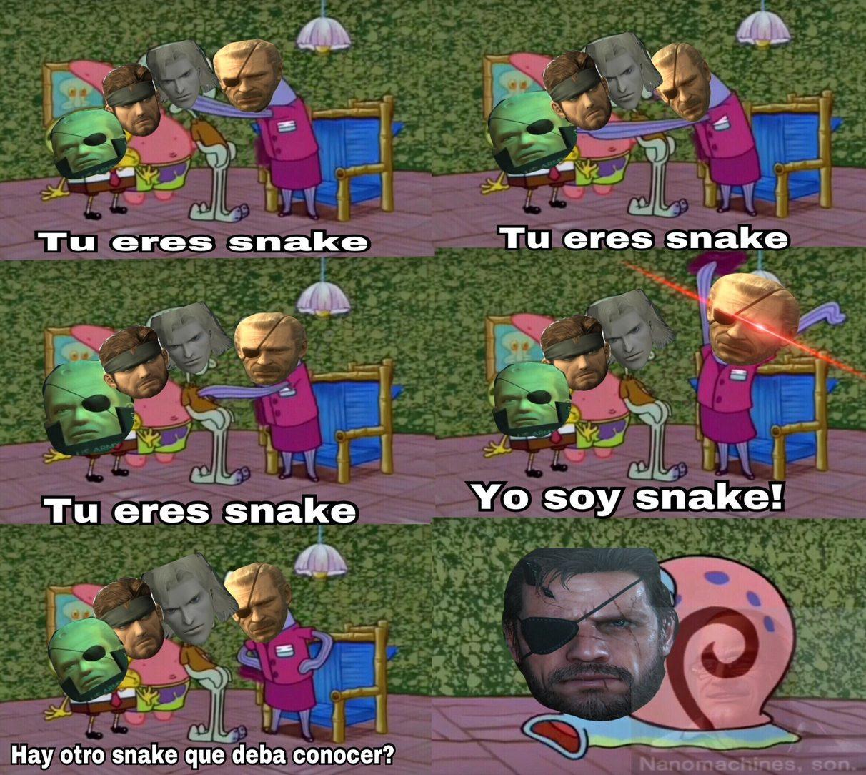 el título es snake - meme