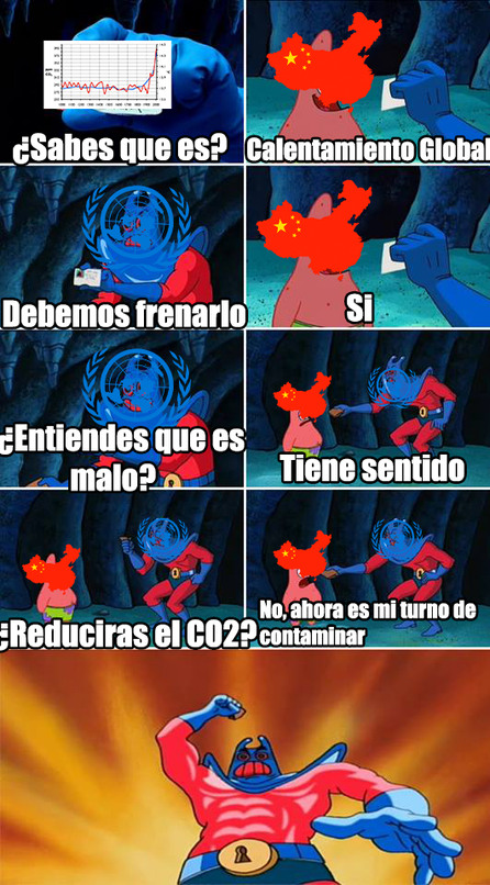 Calentamiento global y China - meme