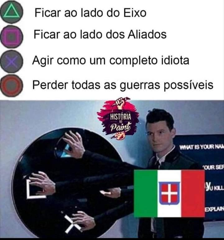 Tinha que ser a Itália - meme