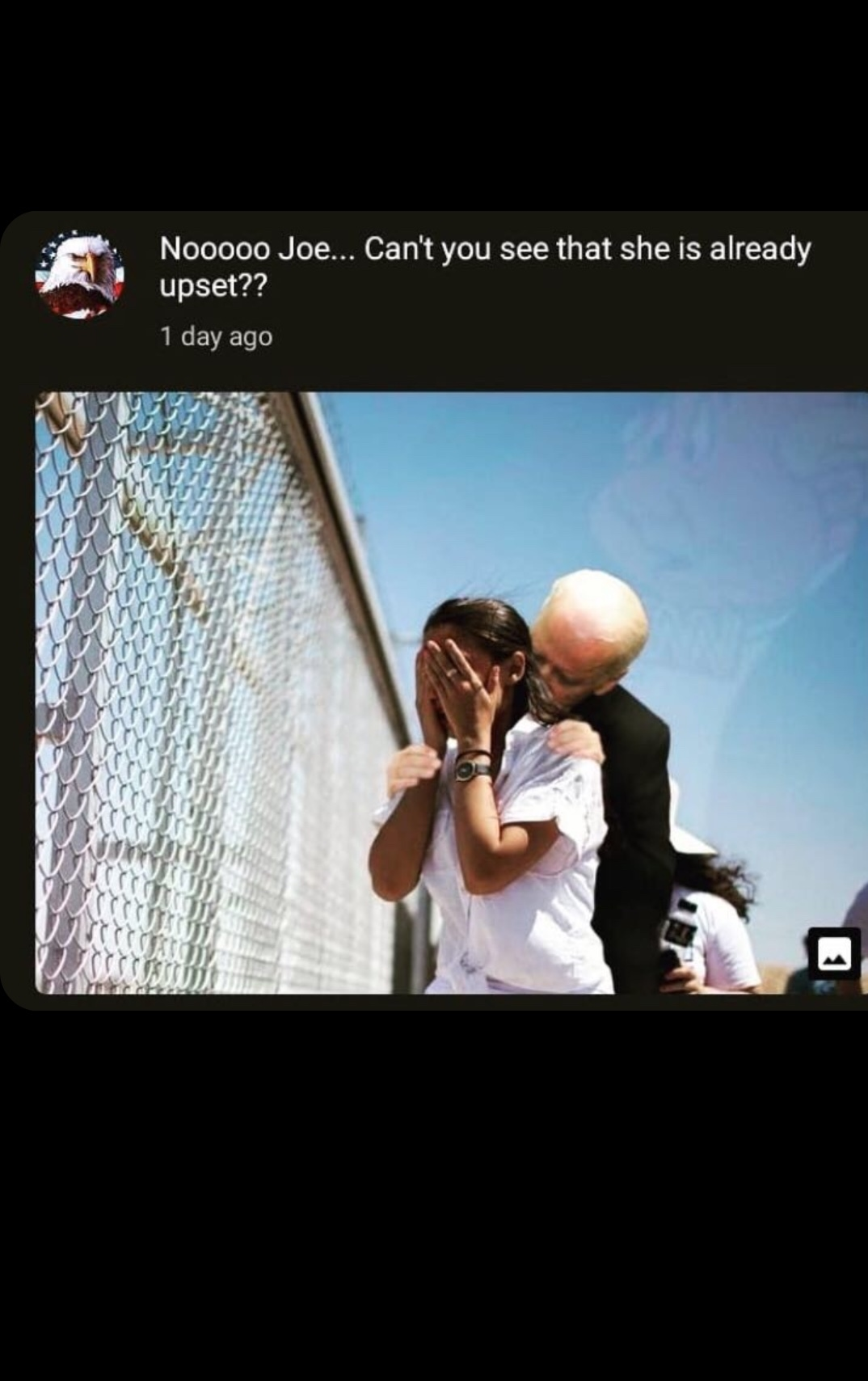 creepy joe at it again - meme