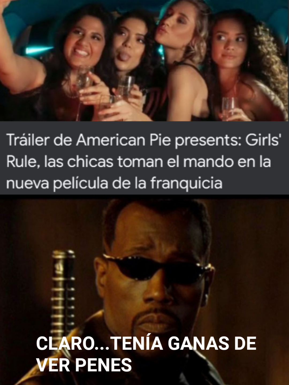 American Pie eran películas que trataban de chicos pillando chicas desnudas - meme
