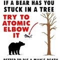 If a bear has you stuck in a tree try to atomic elbow it