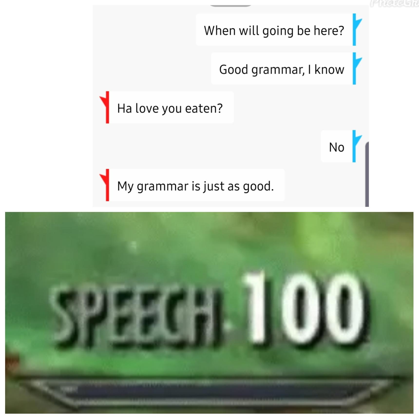 Best grammar ever. - meme