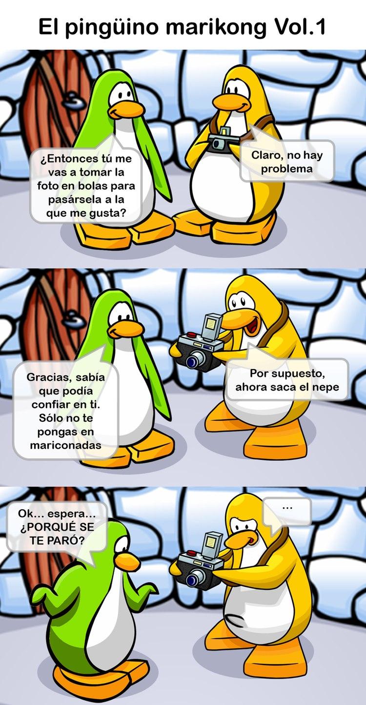 El Pingüino mariKong parte 1 - meme