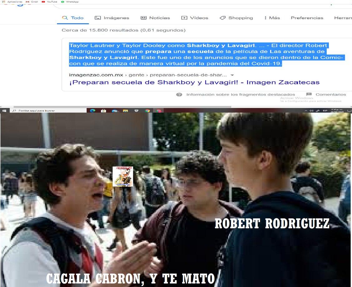 VA HABER UNA SECUELA DE LAS AVENTURAS SHARKBOY Y LAVAGIRL (SI YA LO SE, ROBERT RODRIGUEZ ES EL DIRECTOR ORIGINAL DE LA PELICULA) - meme
