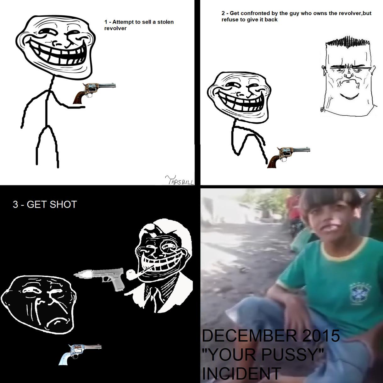 The 500 tales revolver - meme