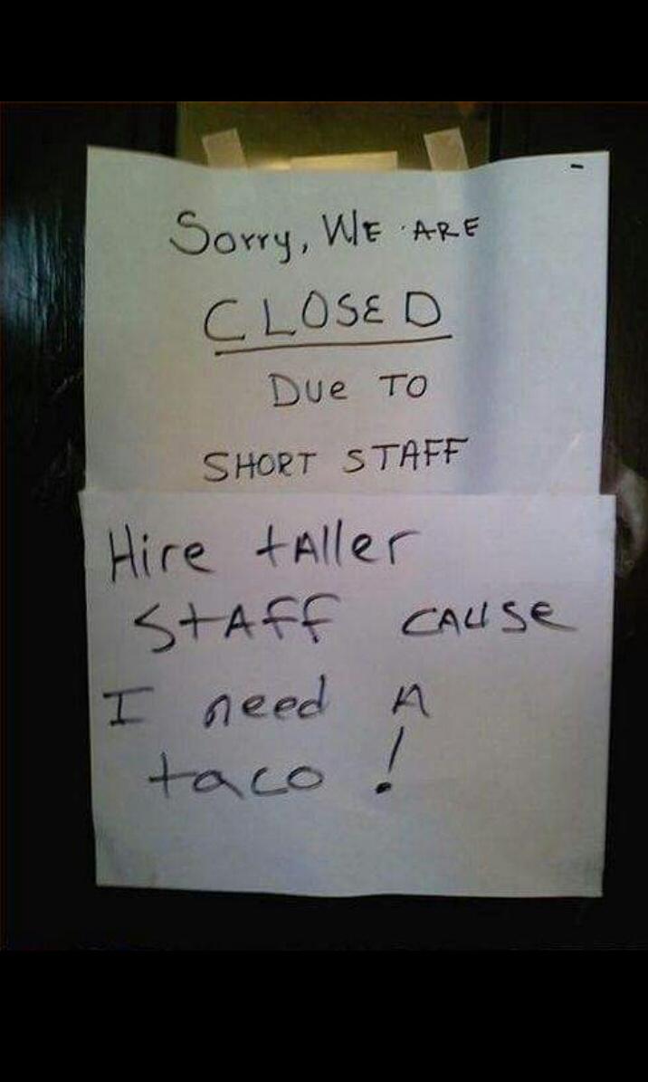 We need taller staff - meme