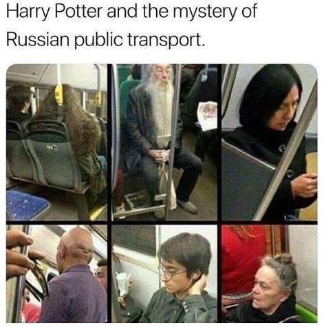 Harry Potter and the mystery of Russian public transport - meme