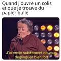 Hum papier bulle