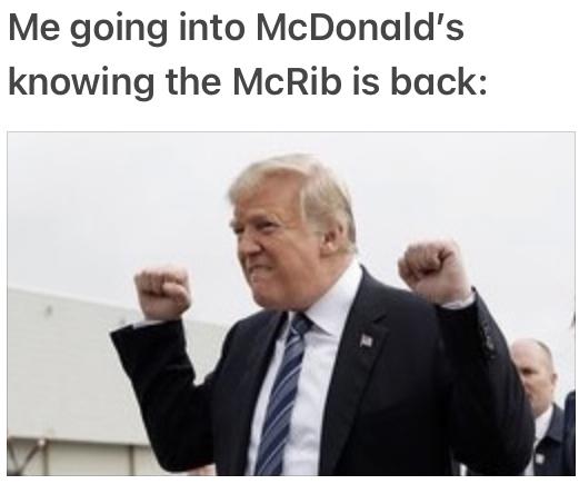 McRib is back and the ice cream machine is still broken smh - meme