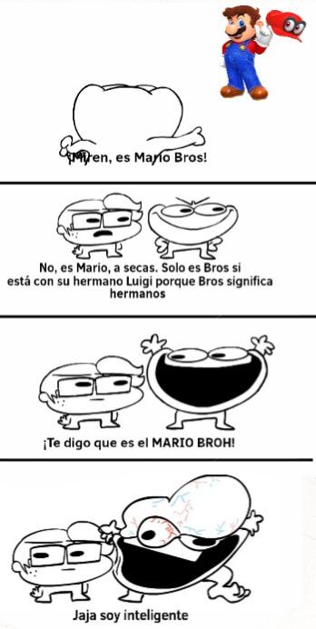 Mario Bros es el adjetivo recibido solo si están Mario y Luigi - meme