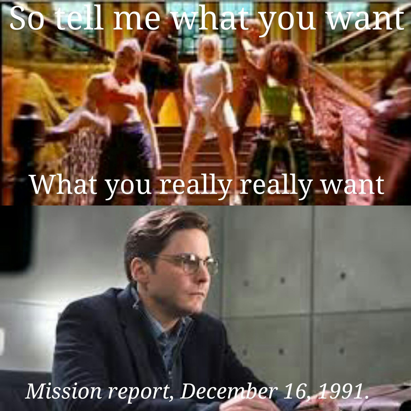All He Wants Is The Report... - meme