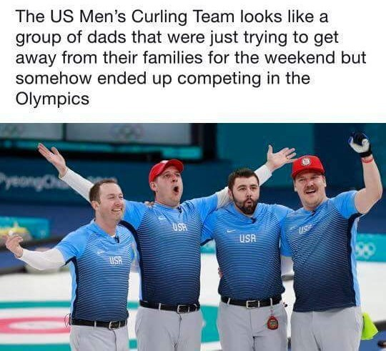 Curling is super fun actually - meme