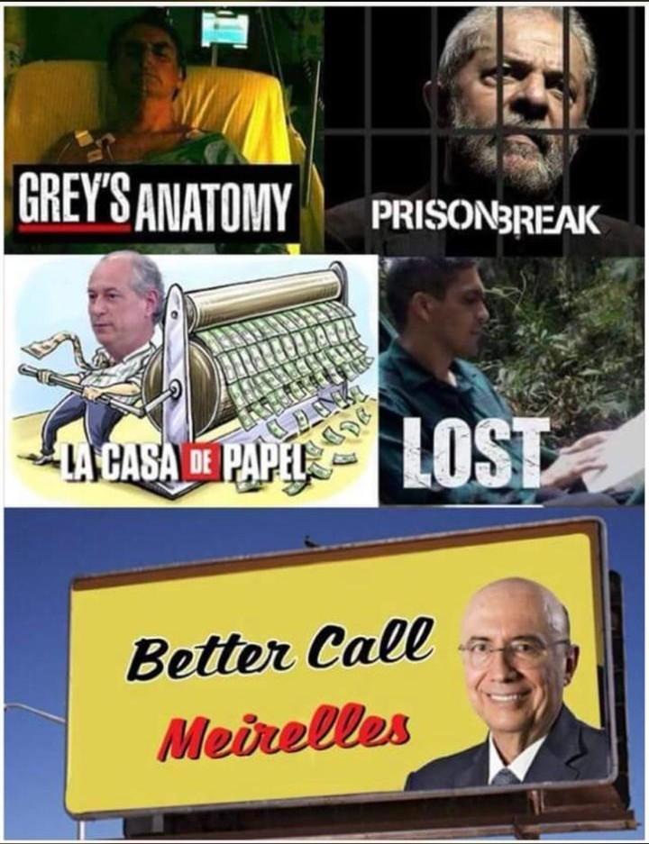 Séries sobres as eleições ( ͡° ͜ʖ ͡°) - meme