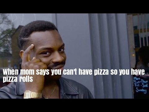 rolled up pizza - meme