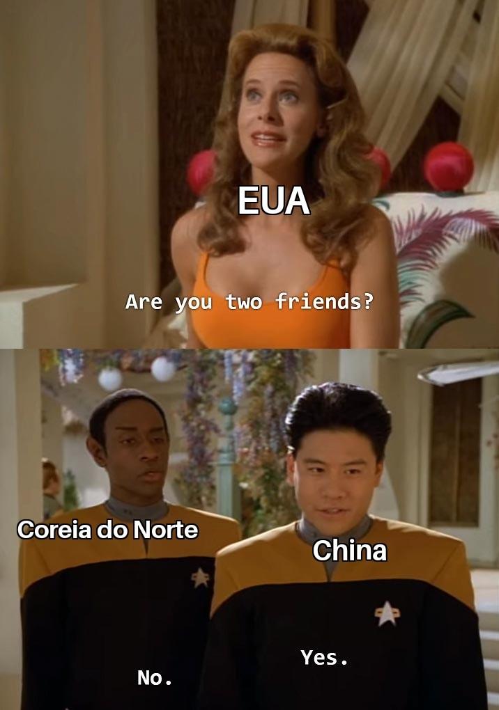 Malditos chineses do pau pequeno - meme