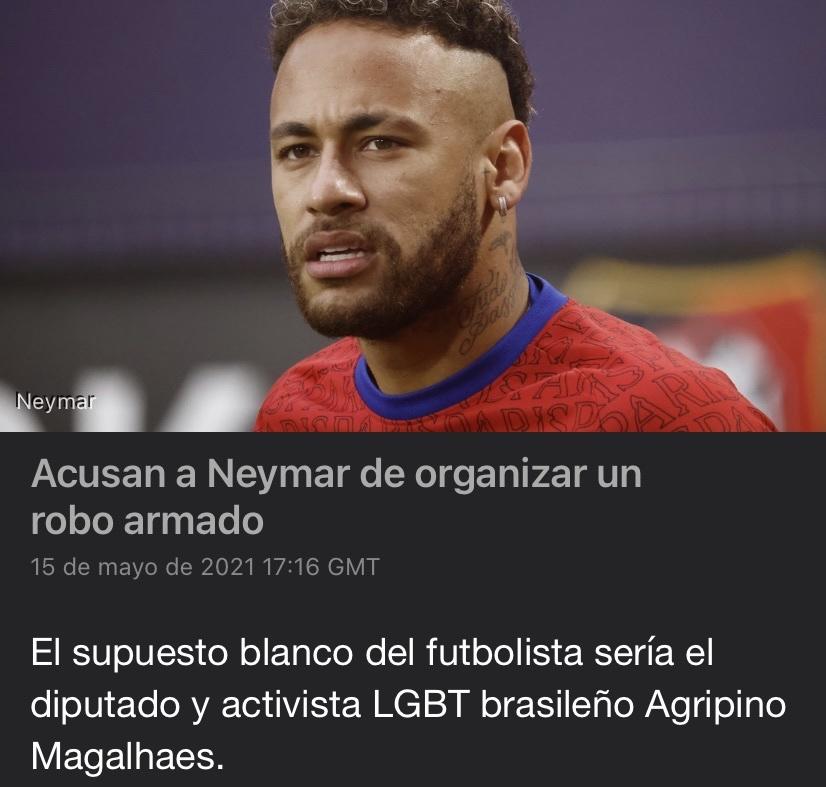 Neymar el asaltante de travestis… - meme
