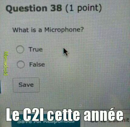 Le C2I cette année (diplôme d'informatique) - meme