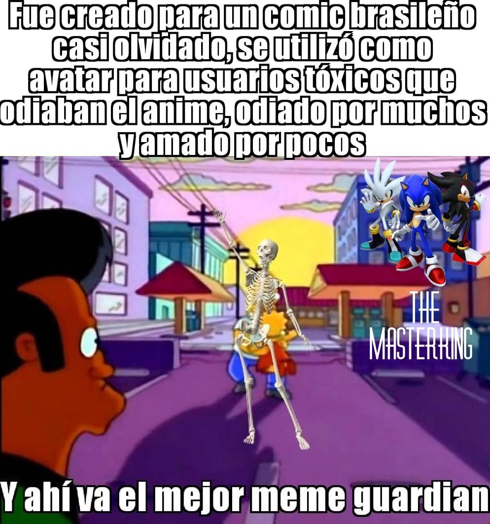 Se te extraña esqueleto - meme