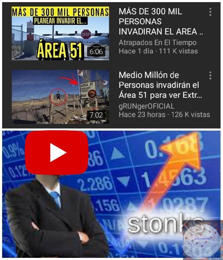 El Area 51 desde el punto de vista de los Youtubers - meme