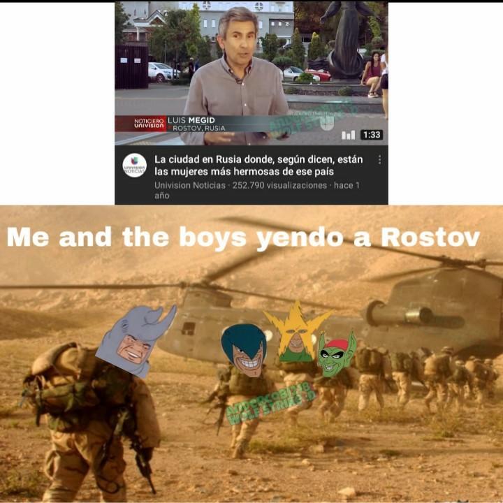 Me and the boys yendo a donde las rusas mas hermosas - meme