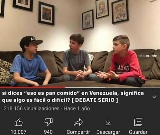 El debate más serio - meme