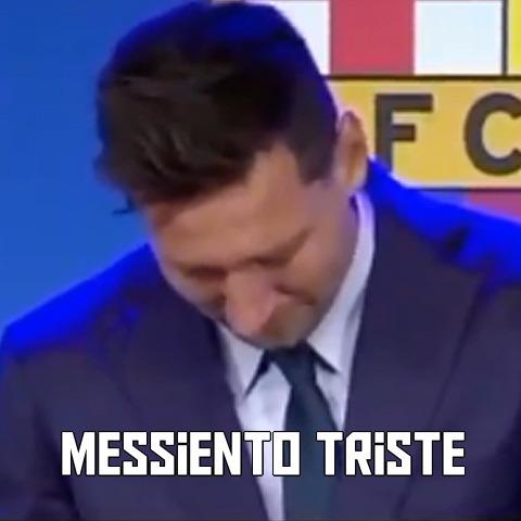messi triste :( - meme