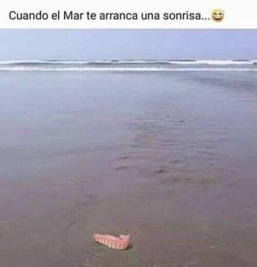 Bien salado el mar - meme