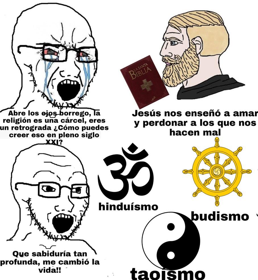 Aclaración: no pretendo insultar esas religiones - meme