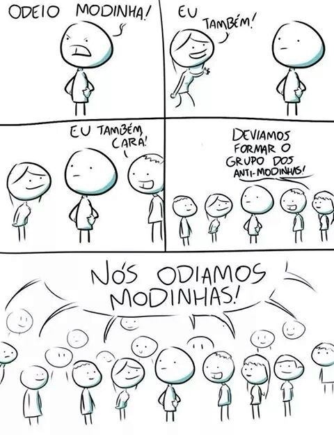 Morte as modinhas! - meme