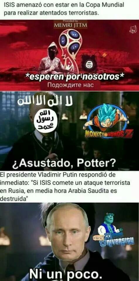 Putin a la defensiva - meme