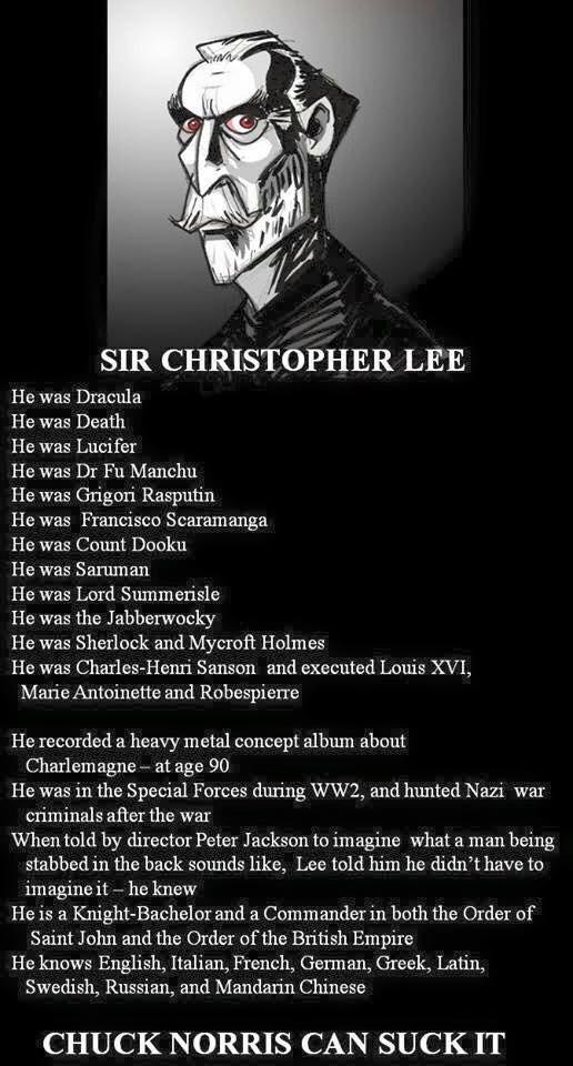 Christopher Lee - meme