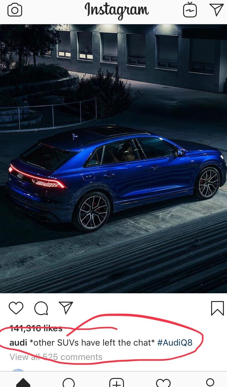 Audi's official profile - meme