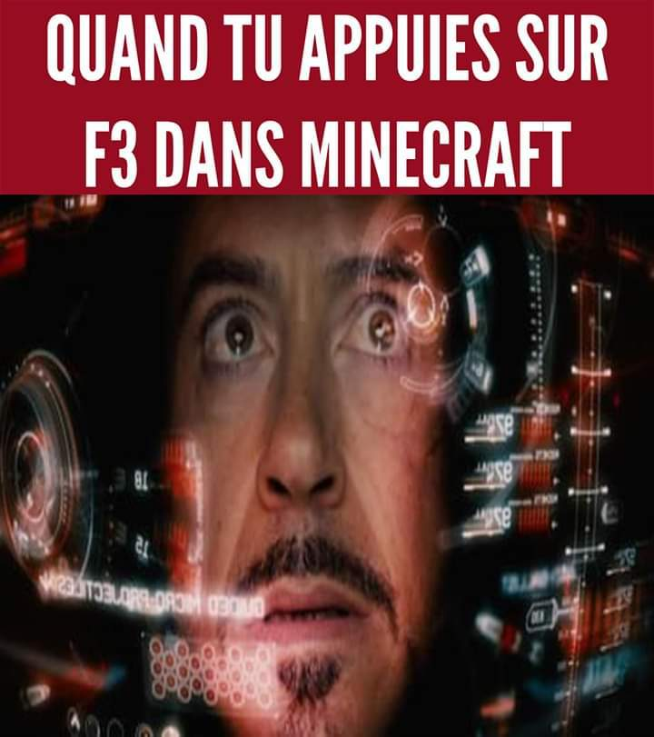 F3 dans Minecraft - meme