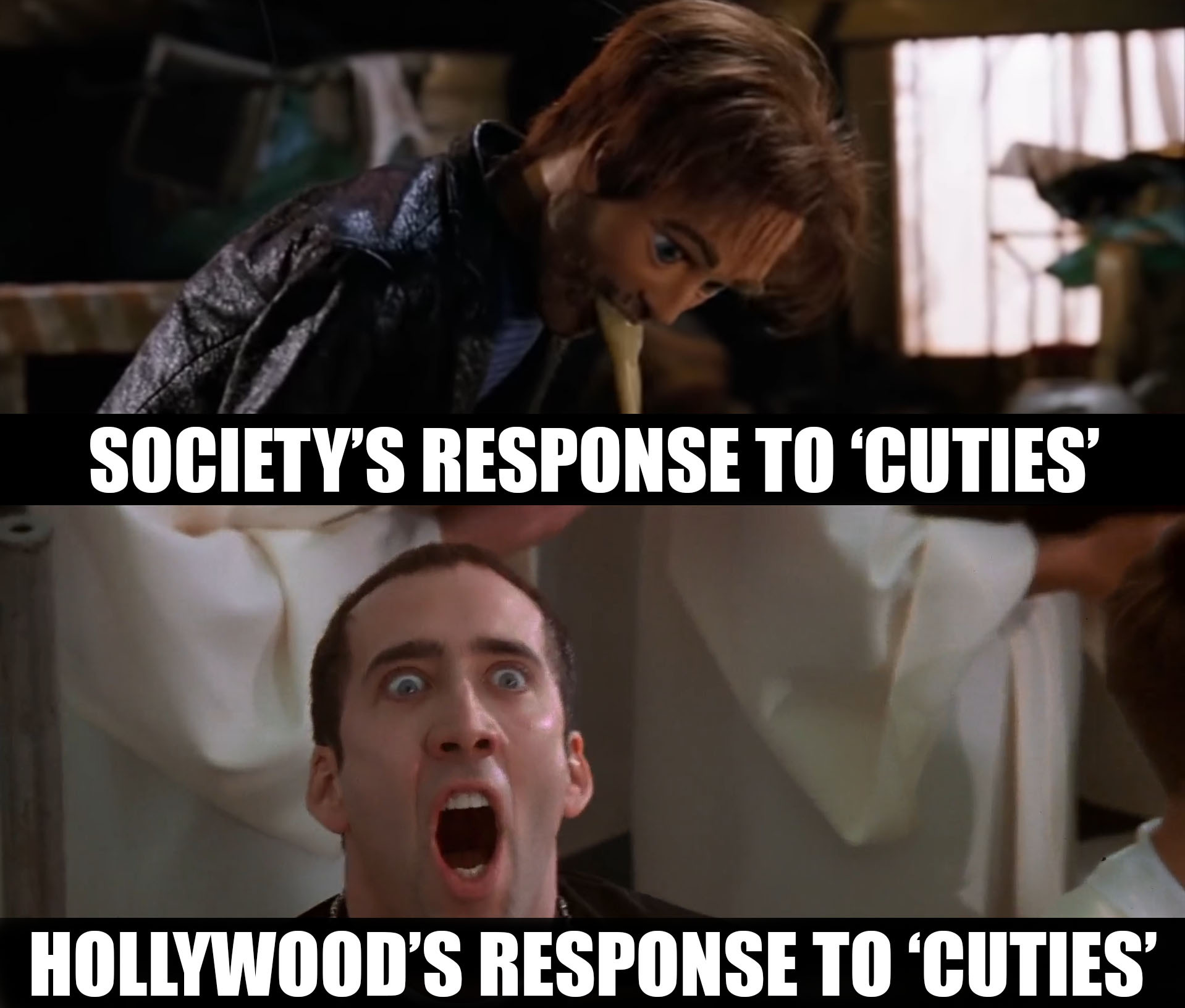 Responding to 'Cuties' - meme