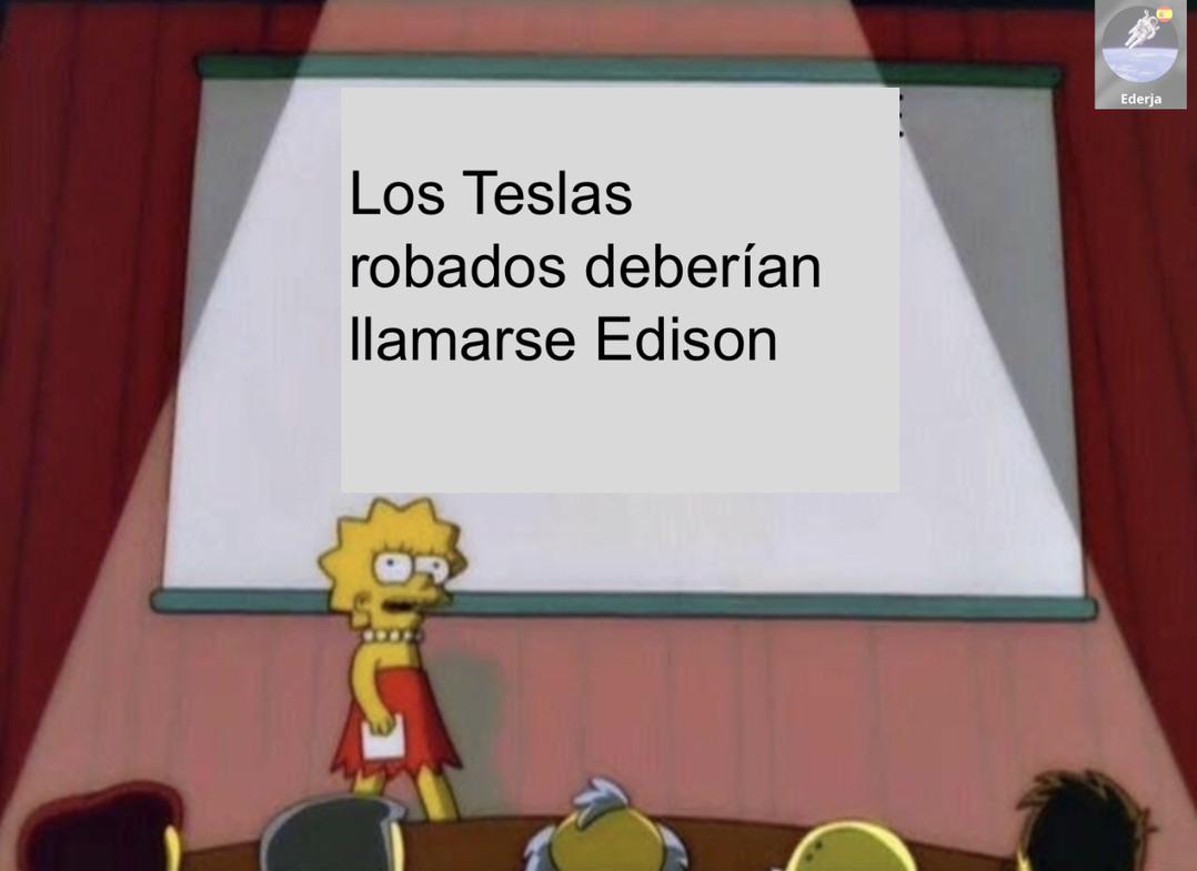 Nikola Tesla fue mejor que Edison - meme