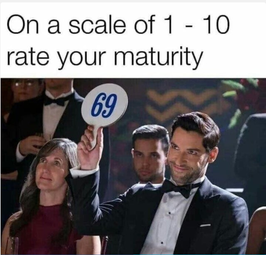 rate you maturity in the comments - meme