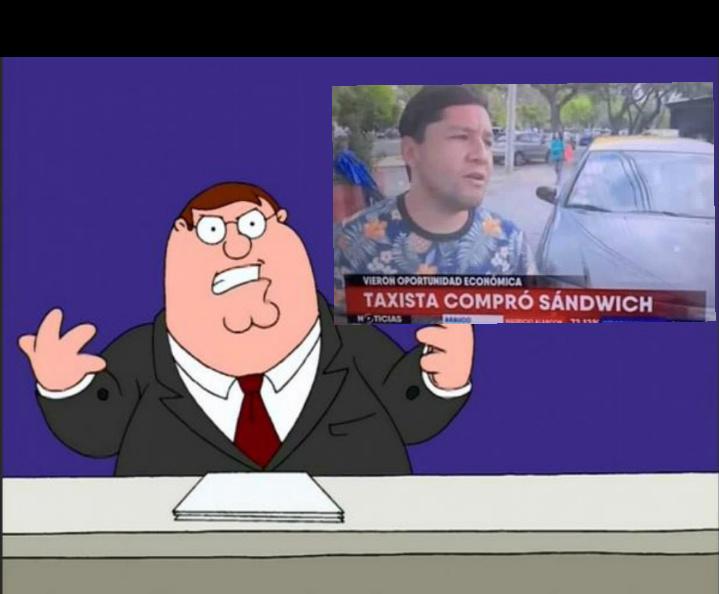 Taxista se compro un sandwich - meme