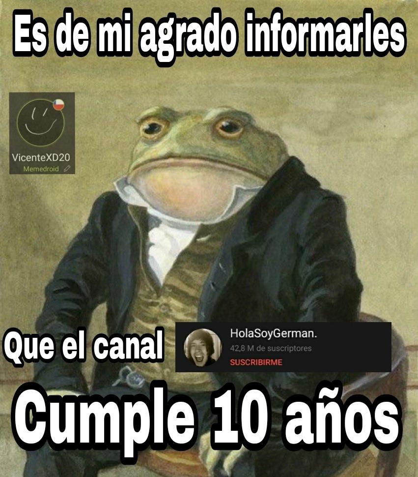 10 años - meme