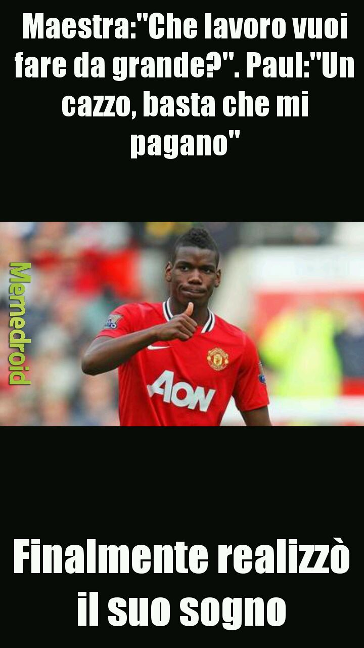 Pogba confirmed - meme