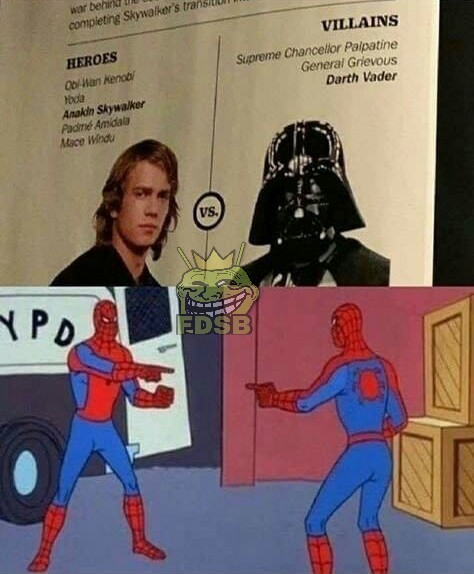 Héroes / Villanos - meme