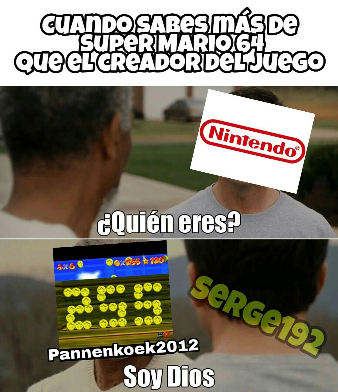 El dios de Mario 64 - meme