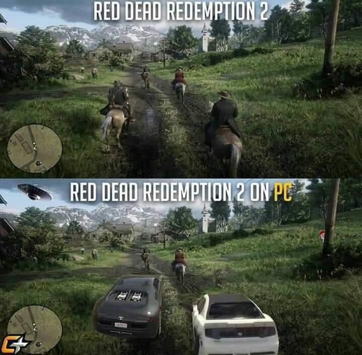 RDR2 Console x RDR2 PC - meme