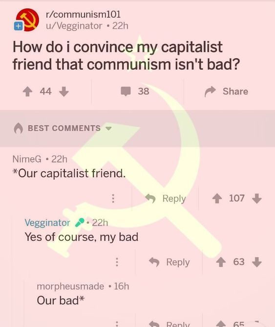 do we need to go over communist grammer comrade? - meme