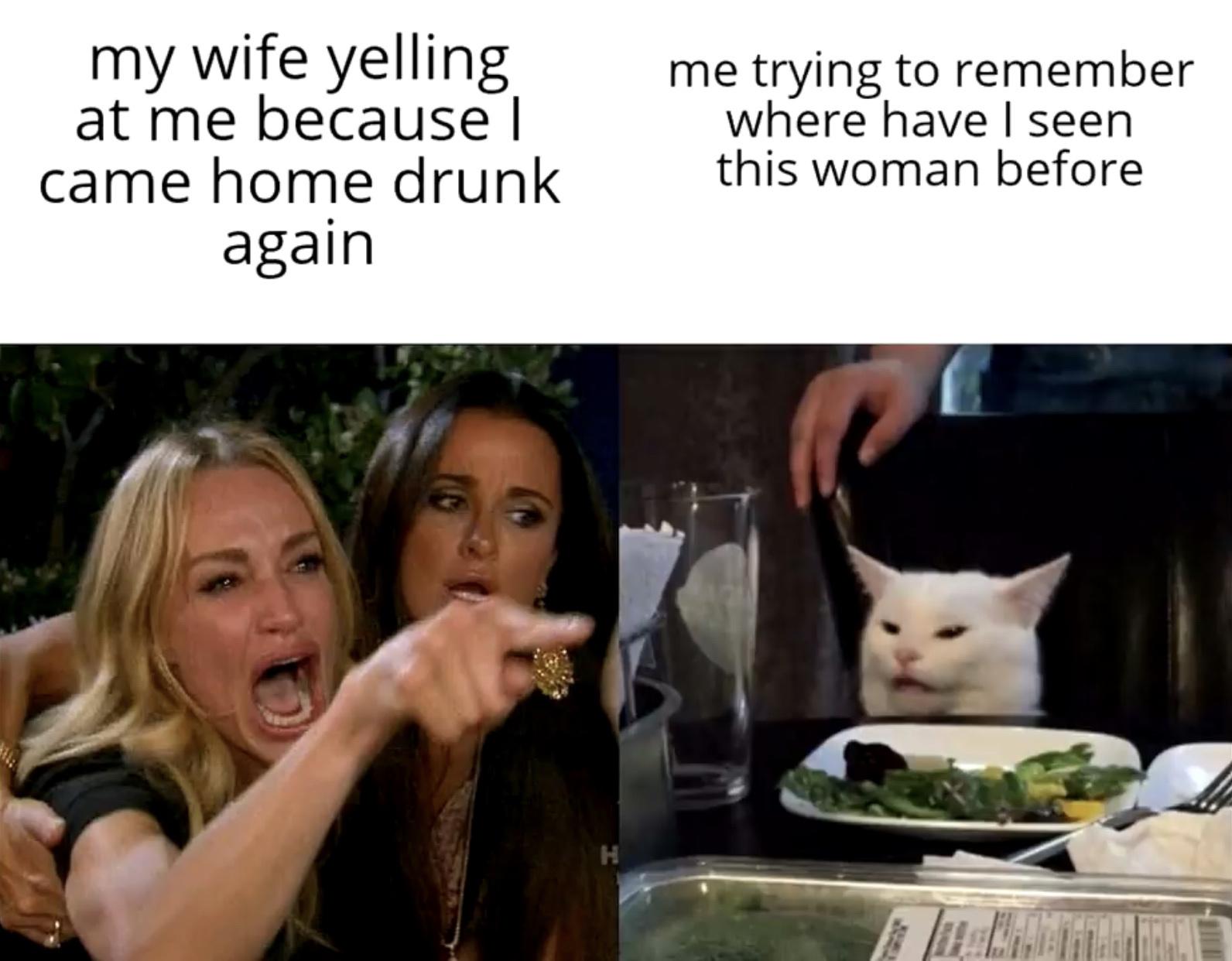 I've never seen this women in my life...............  - meme