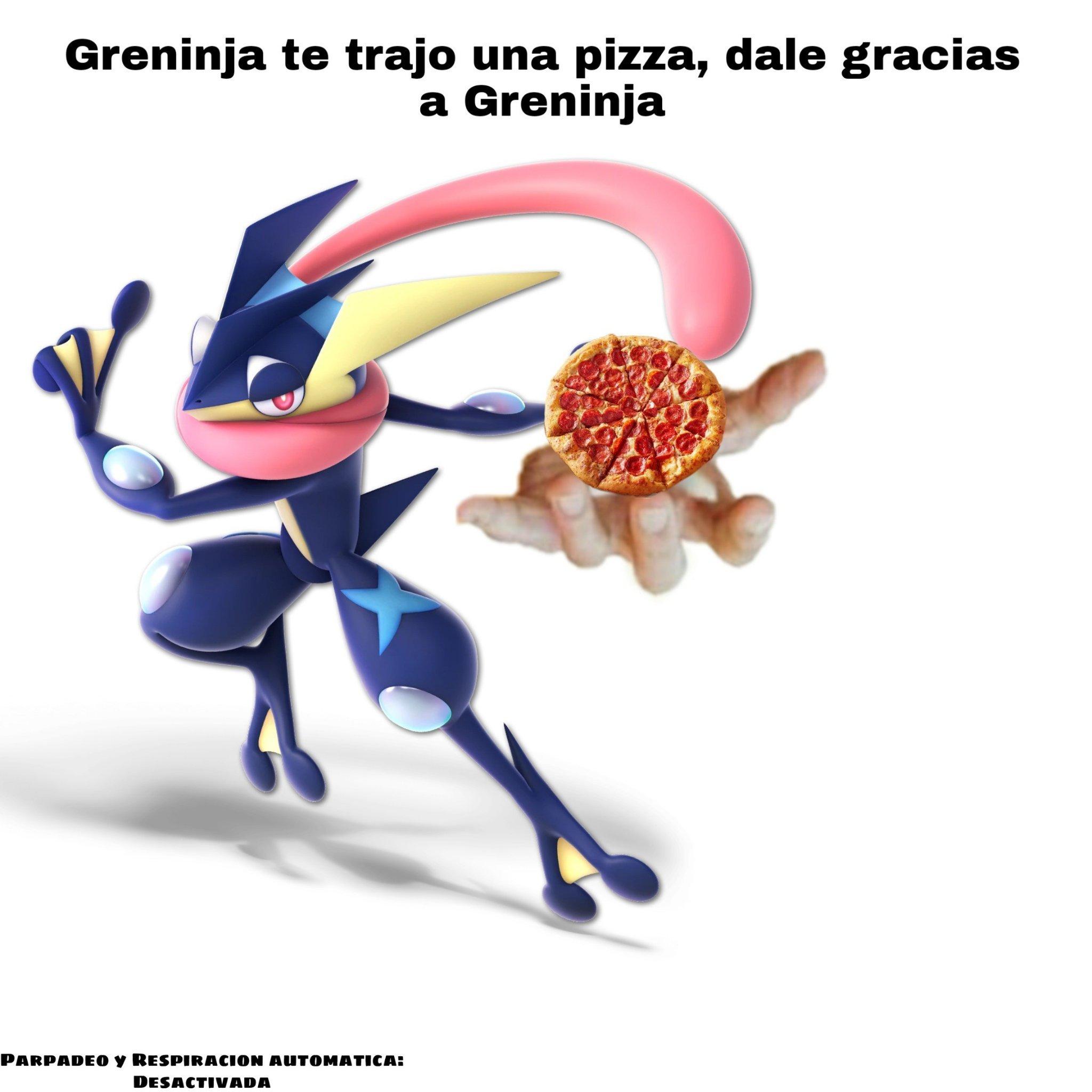 El titulo esta comiendo Pizza - meme